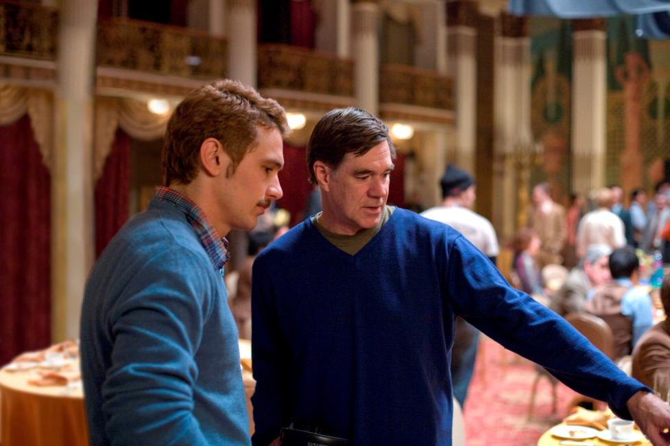 James Franco and Director Gus Van Sant on the set of