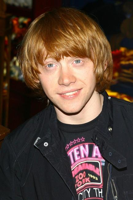 Rupert Grint at the opening of the new Harry Potter Store.