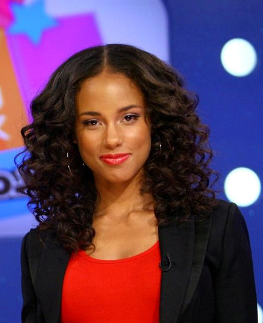 Alicia Keys at the BETs 106 and Park.