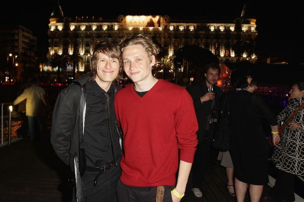 Alexander Scheer and Matthias Schweighoefer at the German Films Reception during the 63rd Annual Cannes Film Festival.
