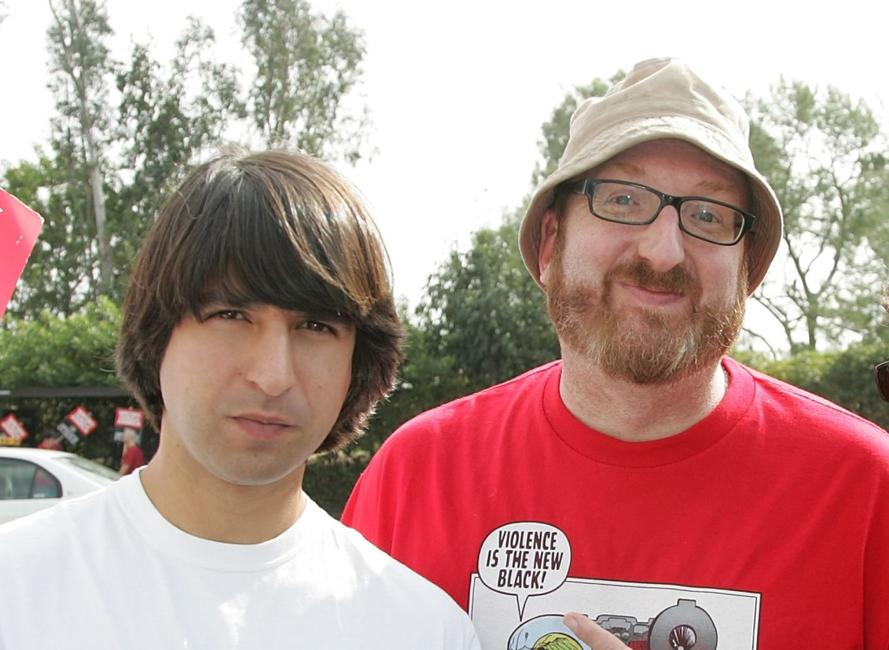 Demetri Martin and Brian Posehn at the Writers Guild of America (WGA).