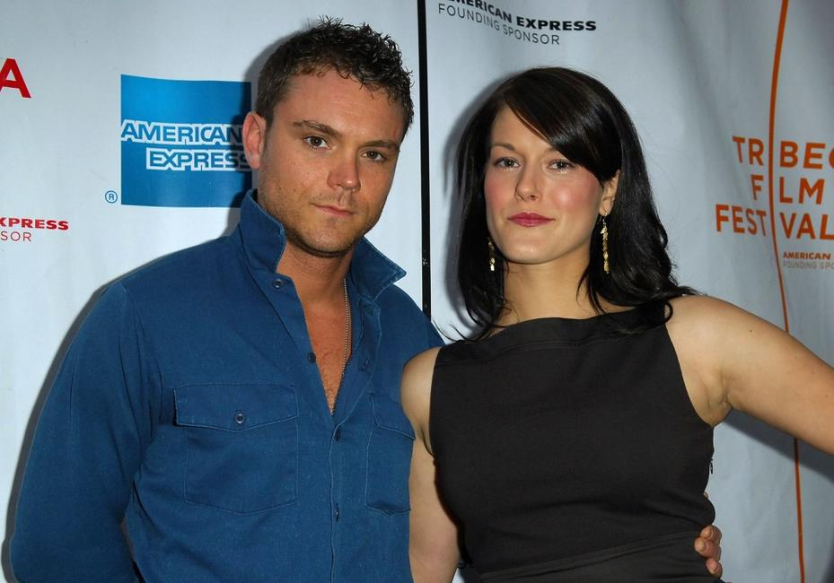 Clayne Crawford and director Abigail Carpenter at the premiere of