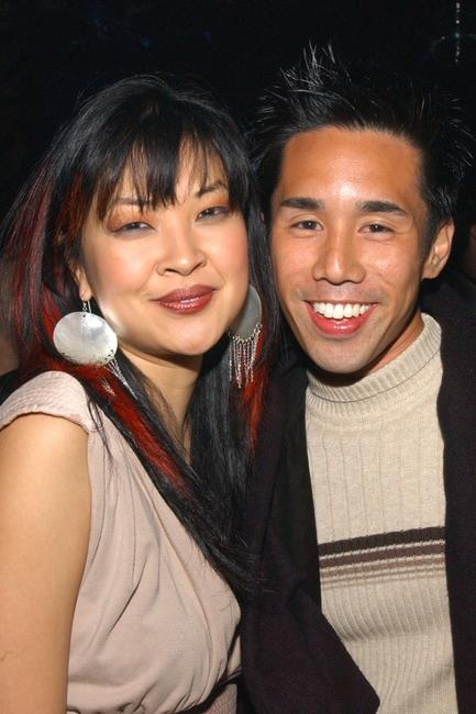 Suchin Pak and Parry Shen at the party celebrating the opening weekend of