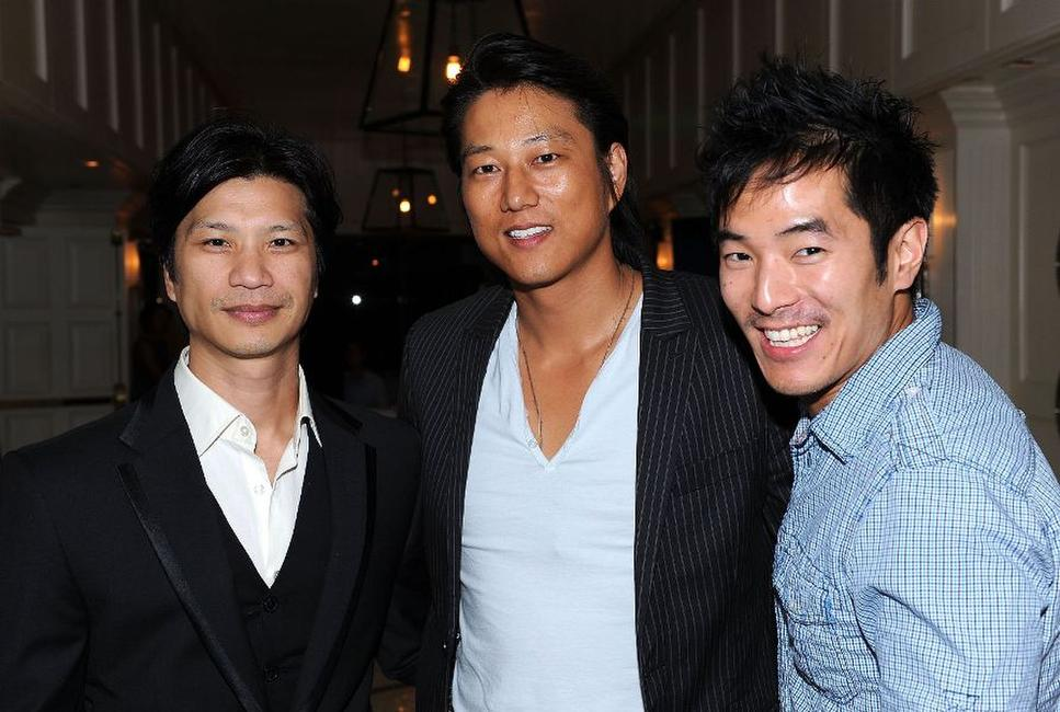 Dustin Nguyen, Kang Sung and Leonardo Nam at the Breakthrough Brit Week.
