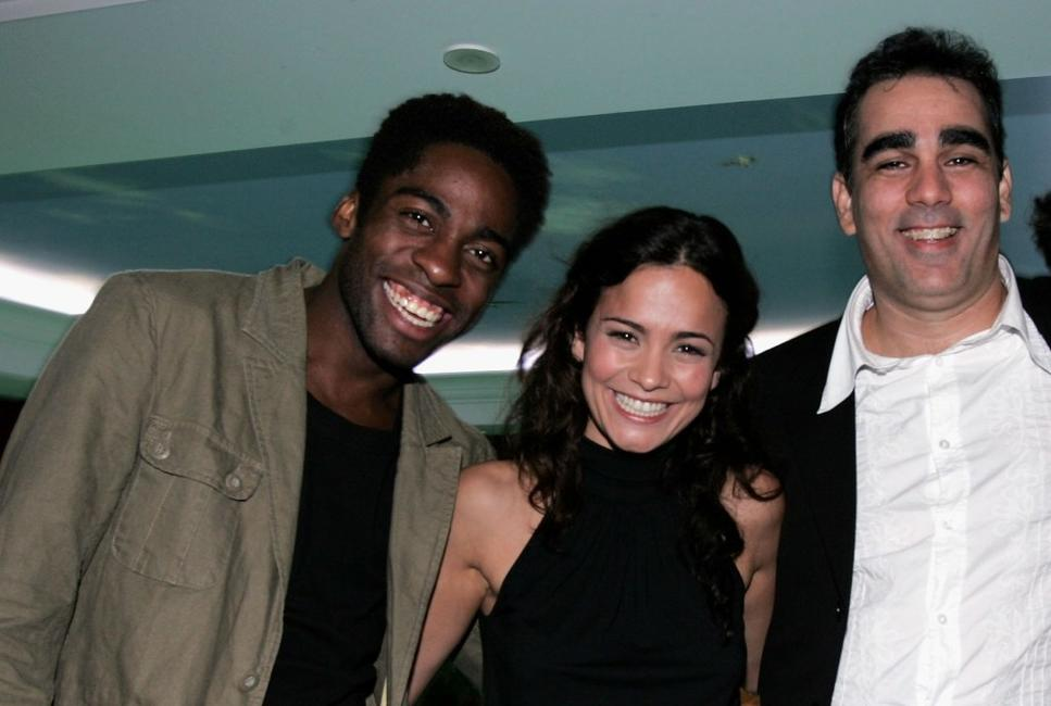 Lazaro Ramos, Alice Braga and Director Sergio Machado at the Cidade Baixa (Lower City) after party during the 58th International Cannes Film Festival.