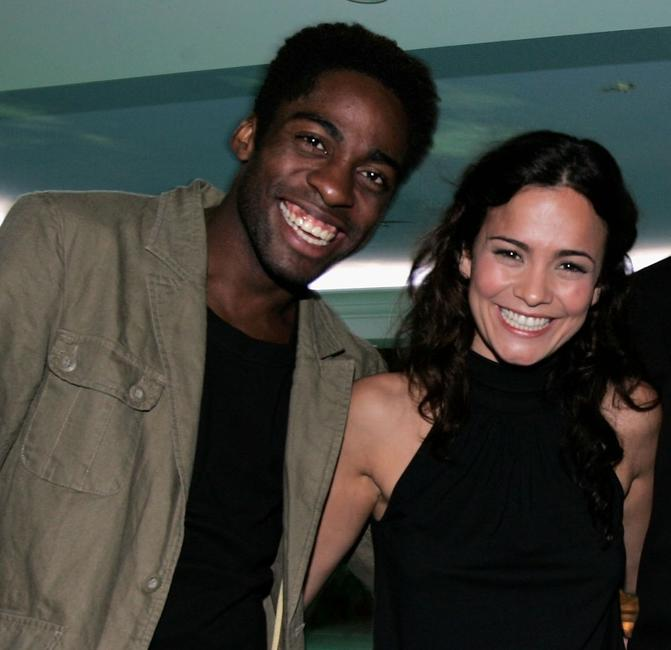 Lazaro Ramos and Alice Braga at the Cidade Baixa (Lower City) after party during the 58th International Cannes Film Festival.