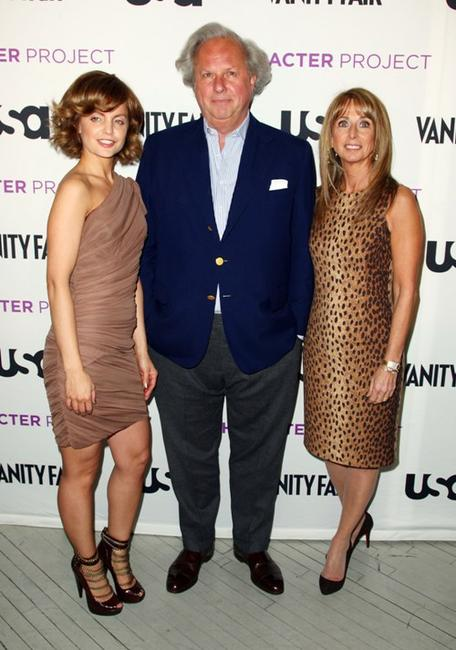 Mena Suvari, Graydon Carter and Bonnie Hammer at the USA Network's