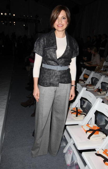 Mariska Hargitay at the Mercedes-Benz Fashion Week Fall 2008, attends the Lela Rose Fall 2008 fashion show.
