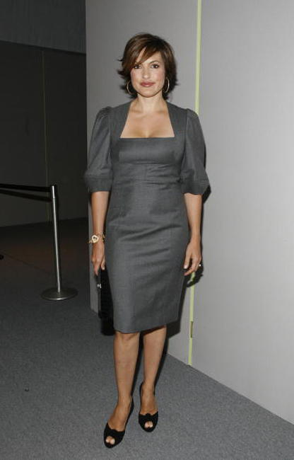 Mariska Hargitay at the Bryant Park during the Mercedes-Benz Fashion Week Spring 2008.