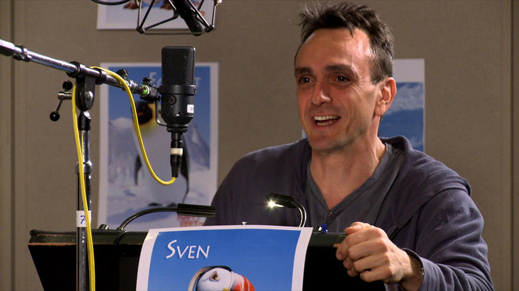 Hank Azaria on the set of