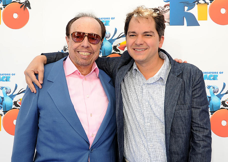 Music producer Sergio Mendes and Carlos Saldanha at the California premiere of