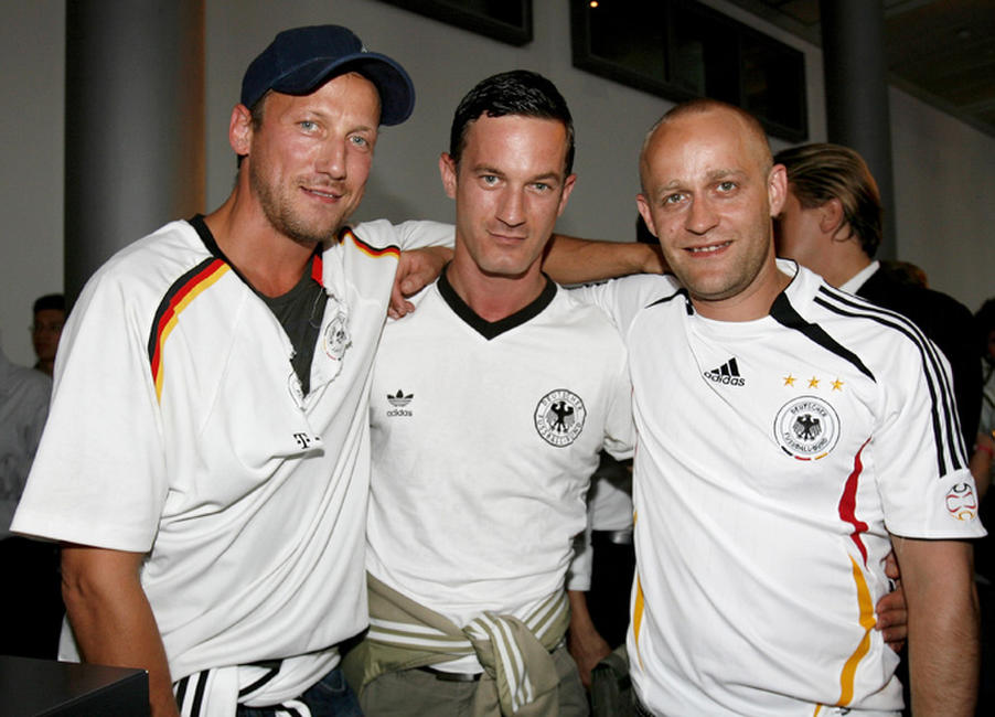 Wotan Wilke Mohring, Soenke Moehring and Juergen Vogel at the Deutsche Telekom - Final World Cup 2006 party in Germany.