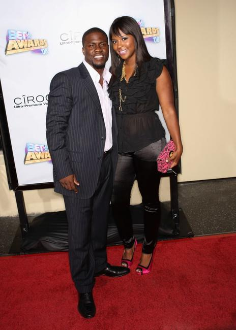 Kevin Hart and Guest at the 2008 BET Awards after party.