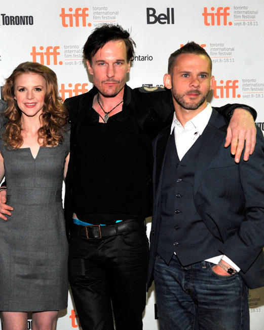 Ashley Bell, Michael Eklund and Dominic Monaghan at the premiere of