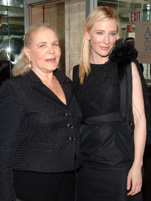 Lauren Bacall and Cate Blanchett at the after party of the special screening of