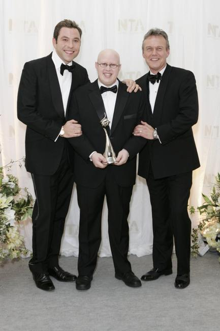 David Walliams, Matt Lucas and Anthony Head at the National Television Awards 2006.