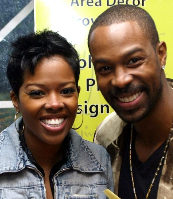 Malinda Williams and Darrin Dewitt Henson at the Distinctive Asset Gift & Lounge during the 36th Annual NAACP Image Awards.