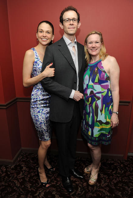 Sutton Foster, Adam Godley and Kathleen Marshall at the 2011 61st Annual Outer Circle Critics Awards in New York.