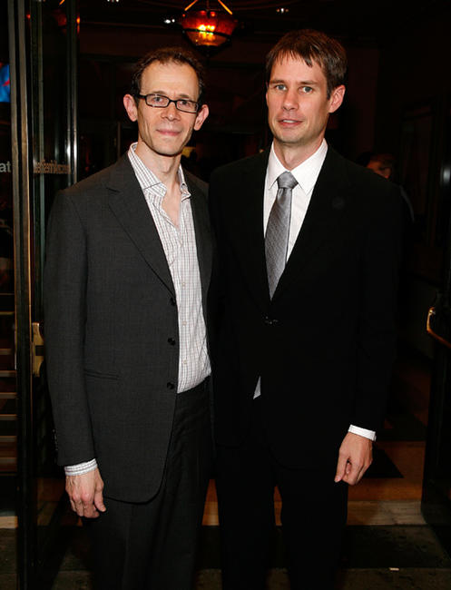 Adam Godley and Jon Hartmere at the Broadway Opening Night of