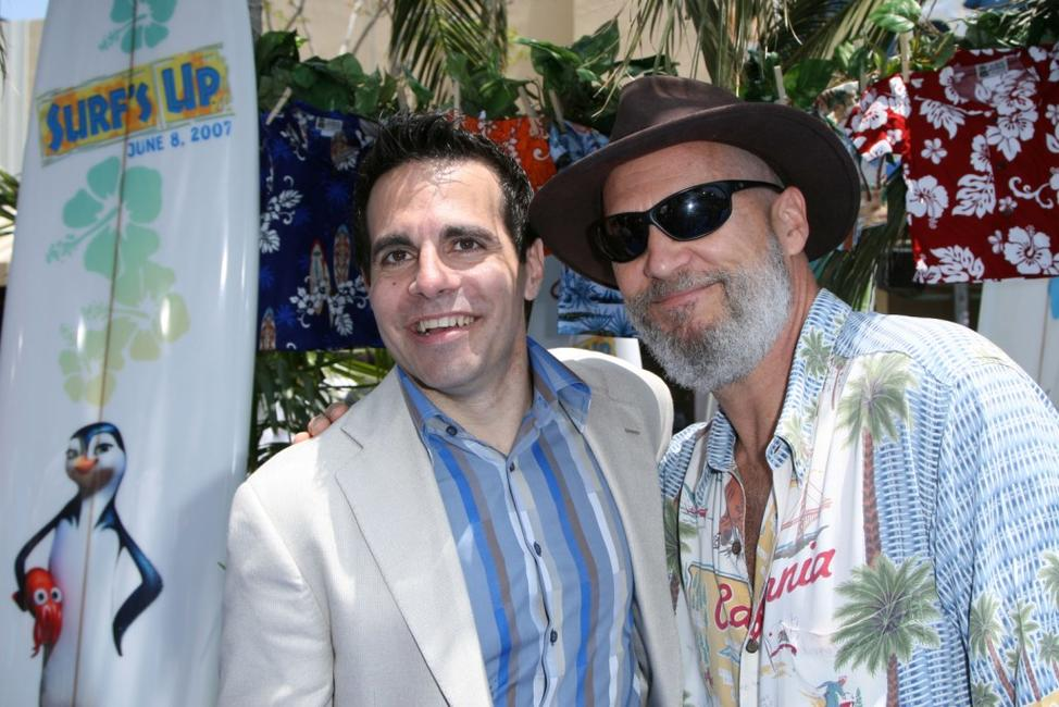 Jeff Bridges and Mario Cantone at the Premiere of
