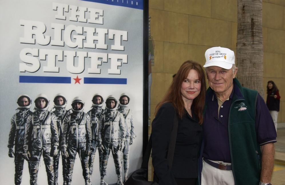Barbara Hershey and General Chuck Yeager at the special 20th Anniversary screening and DVD release of