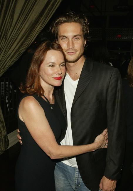 Barbara Hershey and Oliver Hudson at the WB Upfront All-Star Party on May 18, 2004 in New York City.