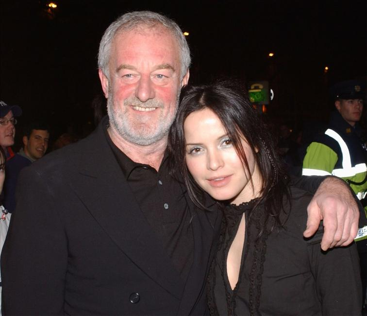 Bernard Hill and Andrea Corr at the premiere of