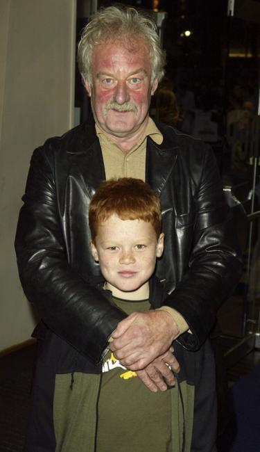 Bernard Hill and his son at the UK premiere of