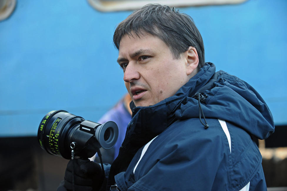 Director Cristian Mungiu on the set of