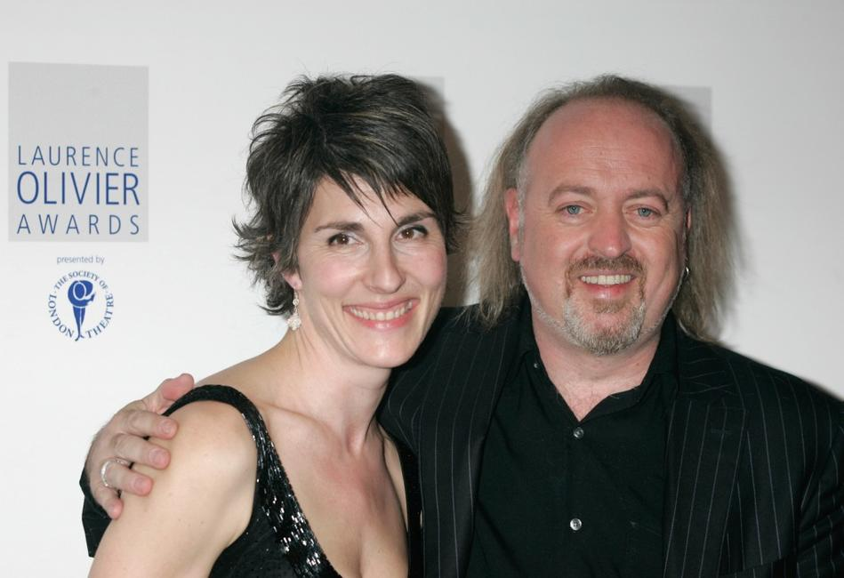 Tamsin Greig and Bill Bailey at the Laurence Olivier Awards.