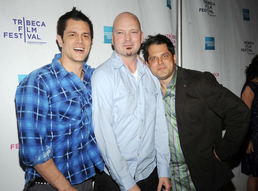 Johnny Knoxville, Producer Storm Taylor and Jeff Tremaine at the premiere of