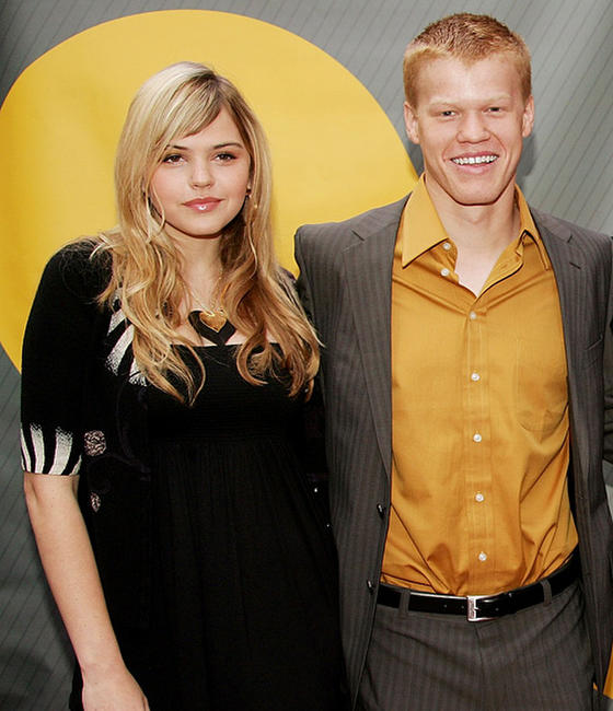 Aimee Teegarden and Jesse Plemons at the NBC Upfronts in New York.