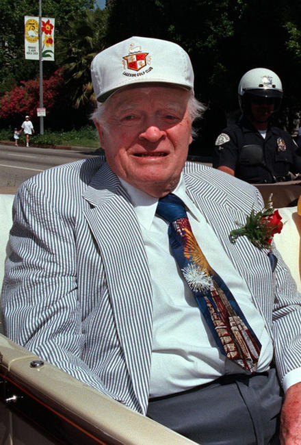 Bob Hope at the 75th Anniversary Toluca Lake Parade in California.