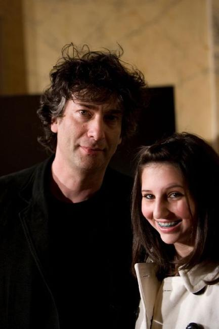 Neil Gaiman and Maddy Gaimen at the premiere of