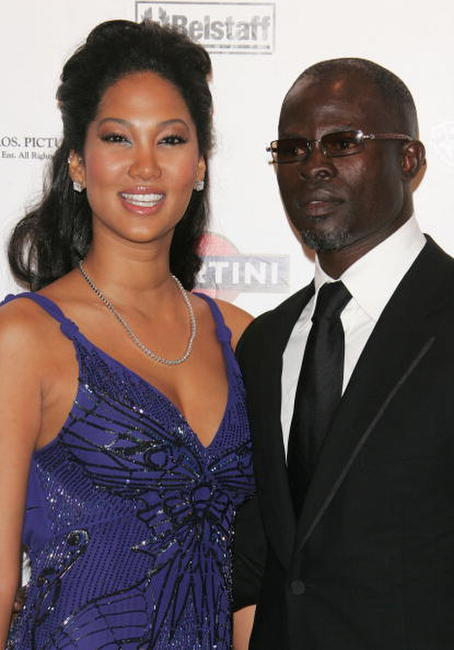 Djimon Hounsou and Kimora Lee Simmons attends a party to promote the film
