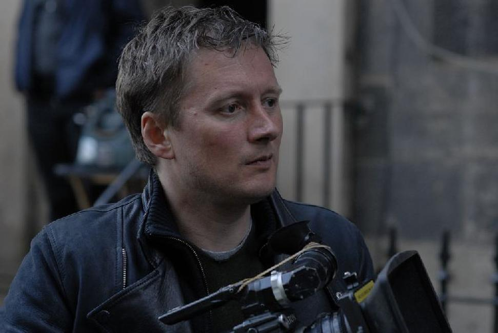 Director David Mackenzie on the set of