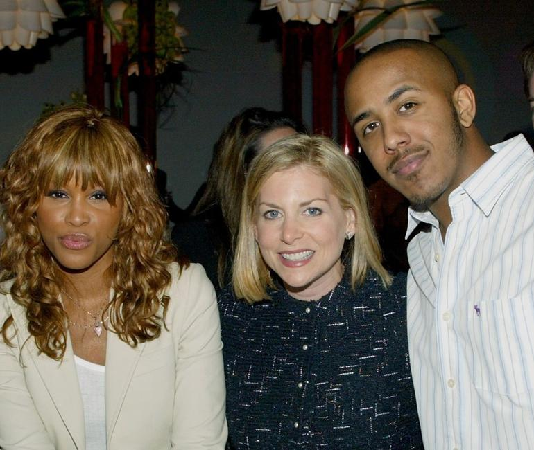 Eve, Dawn Ostroff and Marques Houston at the CBS & UPN Winter Press Tour party.