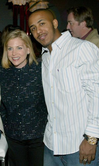 Dawn Ostroff and Marques Houston at the CBS & UPN Winter Press Tour party.