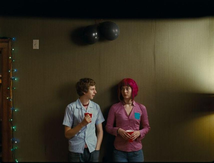 Michael Cera as Scott Pilgrim and Mary Elizabeth Winstead as Ramona Flowers in