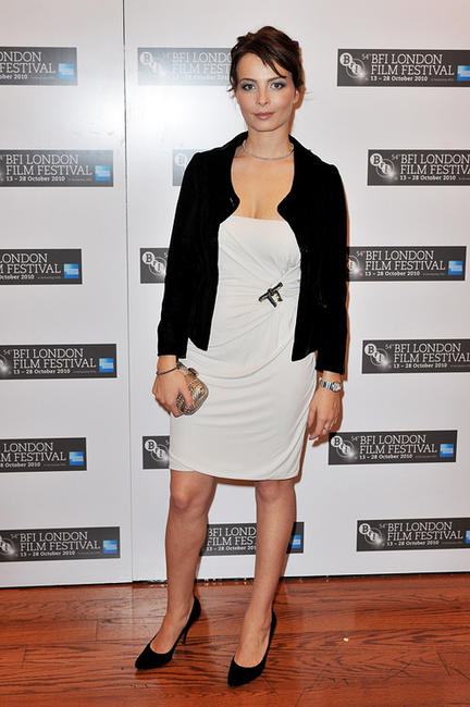 Violante Placido at the premiere of