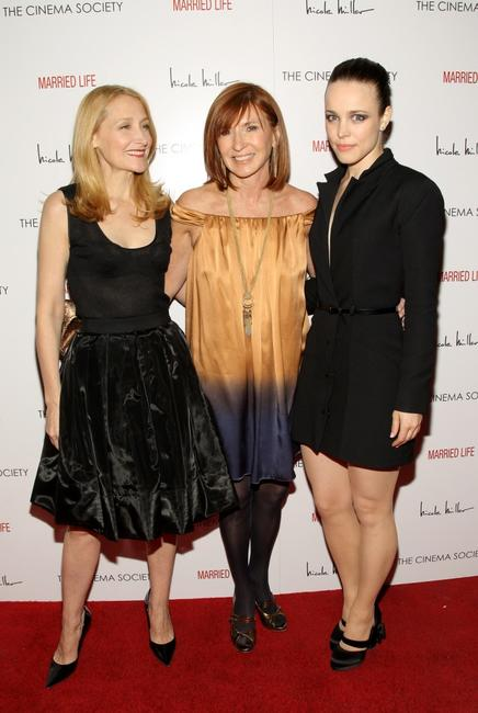 Patricia Clarkson, Nicole Miller and Rachel McAdams at the New York premiere of