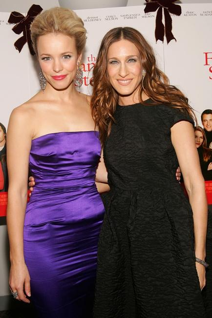 Rachel McAdams and Sarah Jessica Parker at the special holiday screening of