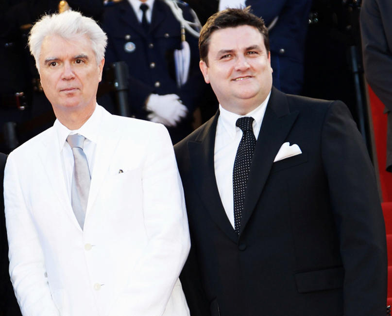 David Byrne and Simon Delaney at the premiere of