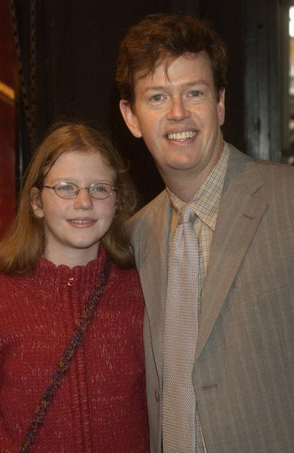 Dylan Baker and his daughter at Studio 54 for the opening night of