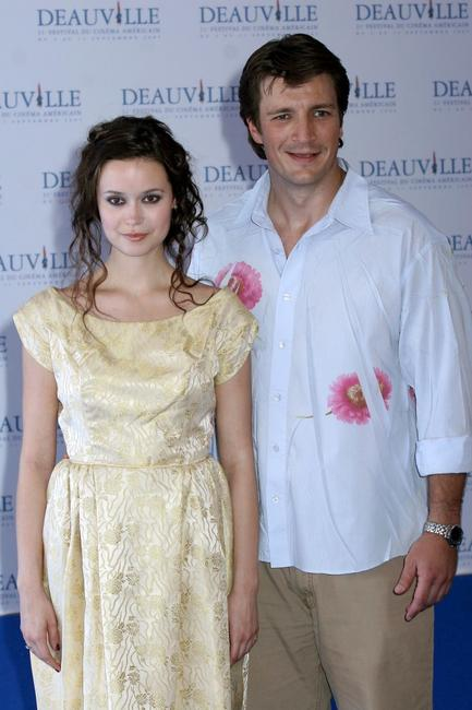 Summer Glau and Nathan Fillion at the photocall of