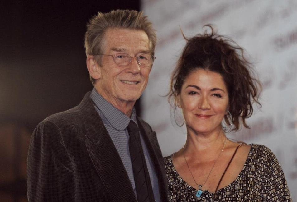 John Hurt and his wife at the Marrakech International film festival.