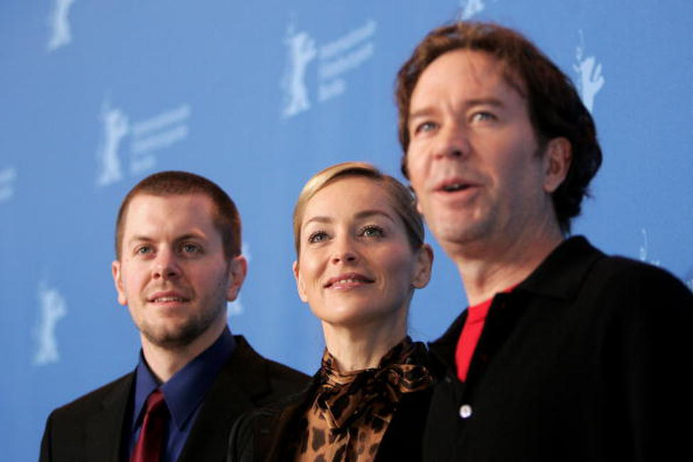 Timothy Hutton, Ryan Eslinger and Sharon Stone at the 57th Berlin International Film Festival (Berlinale), attend the photocall to promote the movie