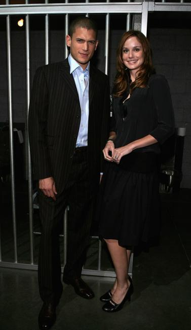 Wentworth Miller and Sarah Wayne Callies at the premiere party of