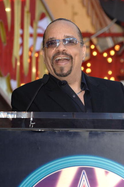 Ice-T at the ceremony on the Hollywood Walk of Fame.