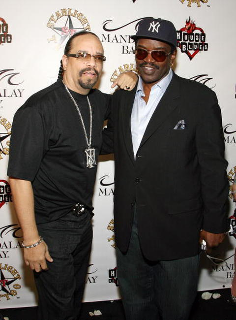 Ice-T and Fab 5 Freddy arrive at the grand opening of Mario Barth's Starlight Tattoo.
